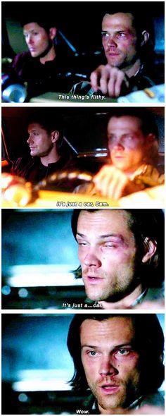 [gifset] 10x02 Reichenbach #SPN #Dean #Sam :( Only time demon Dean gave me a problem.