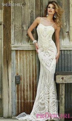 Morden Full Length Beaded Sweetheart Dress by Sherri Hill [ OzuX21pW]