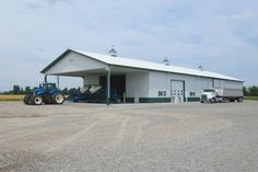 This farm storage/shop was built for John of Charleston, MO  Special Features:    Morton's Hi-Rib Steel  Cupolas  Wainscot  Large Overhang/Porch  Shut...