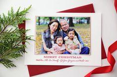 Letterpress Holiday Card by SweetlySaidPress on Etsy