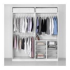 IKEA - PAX, Garderobekast, 200x60x236 cm, standaardscharnier, , Gratis 10 jaar garantie. Raadpleeg onze folder voor de garantievoorwaarden.Deze kant-en-klare PAX/KOMPLEMENT-oplossing is met de PAX-planner makkelijk aan te passen aan je behoefte en smaak.Scharnieren met ingebouwde dempers vangen de deur op en zorgen dat deze langzaam, stil en zachtjes dichtgaat.Wil je de binnenkant op orde houden, dan kan je het geheel completeren met inrichting uit de serie KOMPLEMENT.Met de verstelbare…