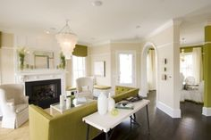 the furniture layout...the color scheme...the integrated open concept