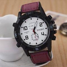 New Men's Sporty Style Analog Quartz Watch