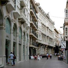 Main Street (calle Mayor).Cartagena Spain.