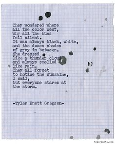 Typewriter Series #1195 by Tyler Knott Gregson