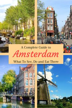 Amsterdam Travel Guide – Roots, Wings, & Travel Things Amsterdam Travel Guide Amsterdam is one of Europe's top travel destinations. This city guide will ensure you miss nothing during your time there. Top Travel Destinations, Europe Travel Tips, European Travel, Travel Guides, Travel Hacks, Budget Travel, Backpacking Europe, Travel Checklist, Travel Goals