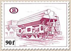 Railway Stamp: Carriage Type 1000 D