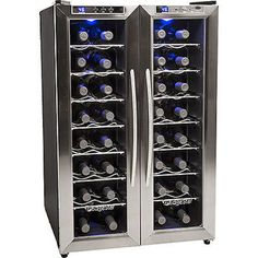 32 Bottle Stainless Steel French Door Wine Refrigerator Compact Dual Zone Last 1 #EdgeStar