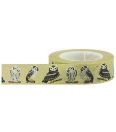 Little B Decorative paper Tape 15mmx15m-Owls