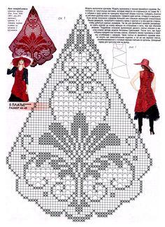 Crochet Tablecloth Pattern, Crochet Doily Patterns, Thread Crochet, Crochet Motif, Crochet Designs, Crochet Doilies, Crochet Stitches, Cross Stitch Patterns, Russian Crochet
