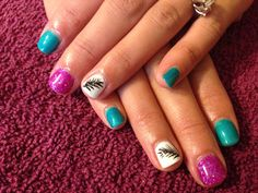 Jewel tone and feathers