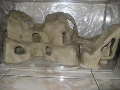 gerbil cave structure.  Such a cool play pen made with safe non-toxic kid safe clay.  Fun toy and hide.