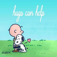 Give someone a hug today ❤️ Charlie Brown Cafe, Charlie Brown Y Snoopy, Peanuts Cartoon, Peanuts Snoopy, Snoopy Hug, Hug Images, Virtual Hug, Joe Cool, Snoopy Quotes