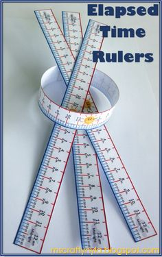 Elapsed Time Rulers - 12 hour and 24 hour Time Spans $ #math #time #elem