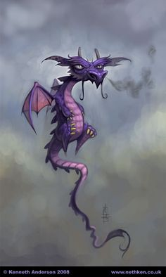 Character Design, Illustration and Concept Art by Kenneth Anderson: Grumpy Dragon