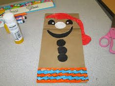 - use brown paper bags and students design their own bonhomme- dessin bonhomme carnaval - Recherche Google