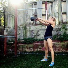 Build strength and get your heart beat up with today's HIIT workout! All you need is a kettlebell and a pull up bar to do it.  Set an interval timer for 18 rounds of :10 and :30 intervals. You'll be resting on the :10 intervals and working as hard as you