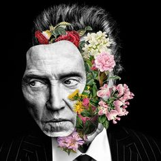 Floral celebrity collages by Marcelo Monreal Now you become well-known spectacles . - Floral celebrity collages by Marcelo Monreal Now you will see famous actors such as Ewan McGregor o - Art Du Collage, Surreal Collage, Collage Artists, Digital Collage, Collages, Digital Art, Surreal Portraits, Collage Portrait, Fashion Portraits