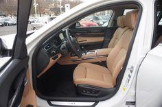 2013 BMW 7 Series: Mineral White exterior, Light Saddle  Dakota Leather, Ash Grain Wood trim #BMWTOWSON #26678