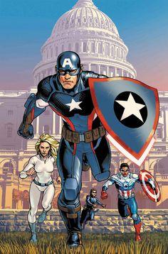 Rogers Wilson Capitán América 72¡Cambio de título! ¡Ha vuelto! El Centinela de la Libertad original está aquí de nuevo, con un nuevo escudo, un nuevo equipo y una nueva misión. Y con el regreso de Steve Rogers, surge la gran pregunta, ¿podrán convivir dos Capitanes América?