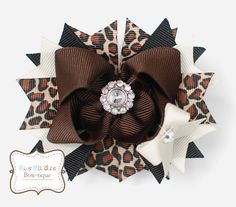 $8.00 3.5 inch Bitty Boutique Bow with Bling (copyright Miss Maddie's Bowtique)