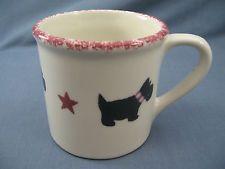Starbucks Hartstone SCOTTIE DOG Mug BARISTA Hand Painted MADE IN THE USA