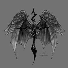Fallen Angel Tattoo by ThreshTheSky on DeviantArt