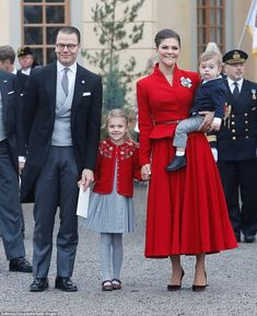 A very modern fairytale: Former personal trainer Daniel Westling married his client, Crown Princess Victoria, who is first in line to the throne. The couple are parents to Princess Estelle and Prince Oscar (pictured)