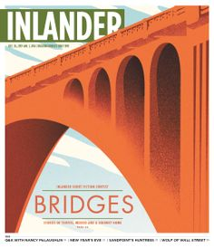 Monroe Street Bridge, Spokane. Inlander Cover. by Chris Bovey