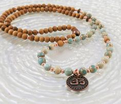 Meditation 108 Mala Bracelet or Necklace with by LifeForceEnergy, $38.00