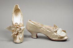 wedding shoes, 1885