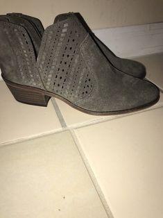 60ba345d327f Vince Camuto Women's Prasata Suede Rear-Zip Ankle Booties Size 9.5M  #VinceCamuto #