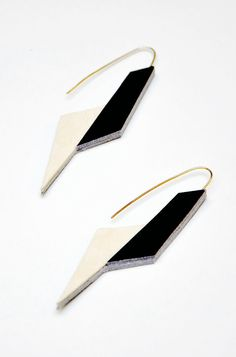 Aumorfia | Polygons | SS14 | Origami leather earrings
