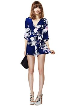 Yumi Kim Botanical Escape Silk Romper