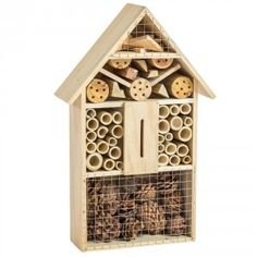 Wooden Insect & Bee Hotel Box House Nest Bug Garden Incubator Bee Keeping Terrariums, Insect Hotel, Esschert Design, Box Houses, Shops, Animal House, Made Of Wood, Bee Keeping, Bug Hotel