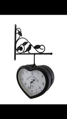 heart double sided clock clocks