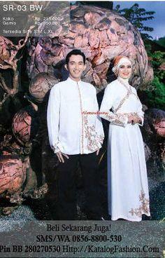 Sarimbit Muslim Putih Al Madani SR 03 BW | http://katalogfashion.com/sarimbit-keluarga-muslim/sarimbit-muslim-putih-al-madani-sr-03-bw