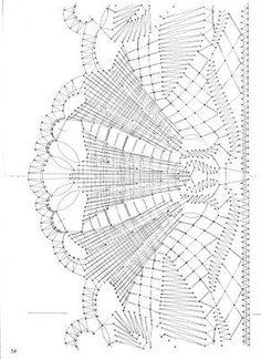 Albumarchief Bobbin Lace Patterns, Bead Loom Patterns, Stitch Patterns, Hairpin Lace Crochet, Crochet Motif, Lace Earrings, Lace Jewelry, Doily Art, Bobbin Lacemaking