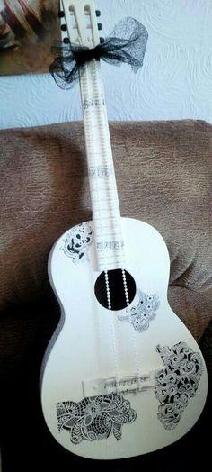 102 best shabby chic vintage steampunk modern rustic rh pinterest com Retro Guitar Black and White Guitar