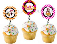 Minnie Mouse Halloween Printable Cupcake by Thelittlehippydippy