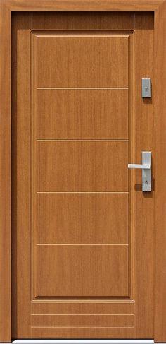 Drewniane wejściowe drzwi zewnętrzne do domu z katalogu modeli klasycznych wzór 588,2