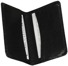 Samsill Regal Leather Business Card Wallet, Holds 25 Cards of  4.0 L x 2.0 W Inches, Black (81220) --- http://www.amazon.com/Samsill-Leather-Business-Wallet-81220/dp/B000A6V0YE/ref=sr_1_97/?tag=affpicntip-20