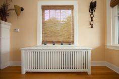cacher un radiateur idée intérieur design moderne déco parquet bois design