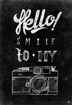 Hello  #typography #lettering #camera #photography
