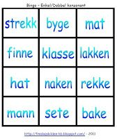 FredagsKilden: NORSK - Undervisningsmateriell 1-17 Bingo, Computer Keyboard, Grammar, Education, School, Tips, 2nd Grades, Computer Keypad, Keyboard
