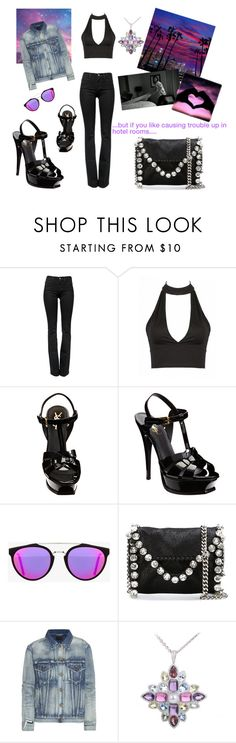 """baby we're perfect!!!"" by maryanacoolstyles ❤ liked on Polyvore featuring Frame Denim, Yves Saint Laurent, RetroSuperFuture, STELLA McCARTNEY, Lauren Ralph Lauren, Converse and Chanel"