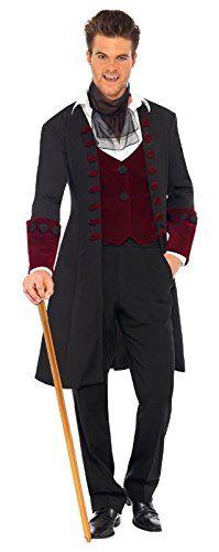 Fever Men's Male Gothic Vamp Costume with Coat Mock Waistcoat and Cravat, Red/Black, Medium Fever http://www.amazon.com/dp/B006S6RYGI/ref=cm_sw_r_pi_dp_A-UKub0988F57