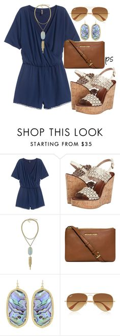 """Good Friday"" by prep-society ❤ liked on Polyvore featuring Tory Burch, Kendra Scott, Michael Kors and Ray-Ban"