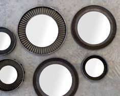 The Reclaimed Turbine Mirror Collection transforms a simple concept into a perfect accent for those looking for a change of pace in their design. Also for aviation afficiandos. Unique Mirrors, Wooden Windows, Window Mirror, Hand Carved, Aviation, Carving, Concept, Change, Simple