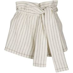 3.1 Phillip Lim Shorts (4.886.775 VND) ❤ liked on Polyvore featuring shorts, bottoms, short, cloud, 3.1 phillip lim, short shorts, linen shorts, 3.1 phillip lim shorts and pinstripe shorts